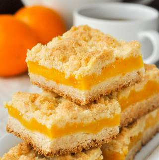 Orange Custard Squares – an old fashioned favourite cookie bar!