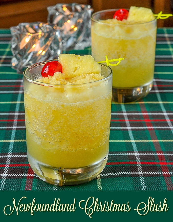 Newfoundland Christmas Slush image with title text for Pinterest