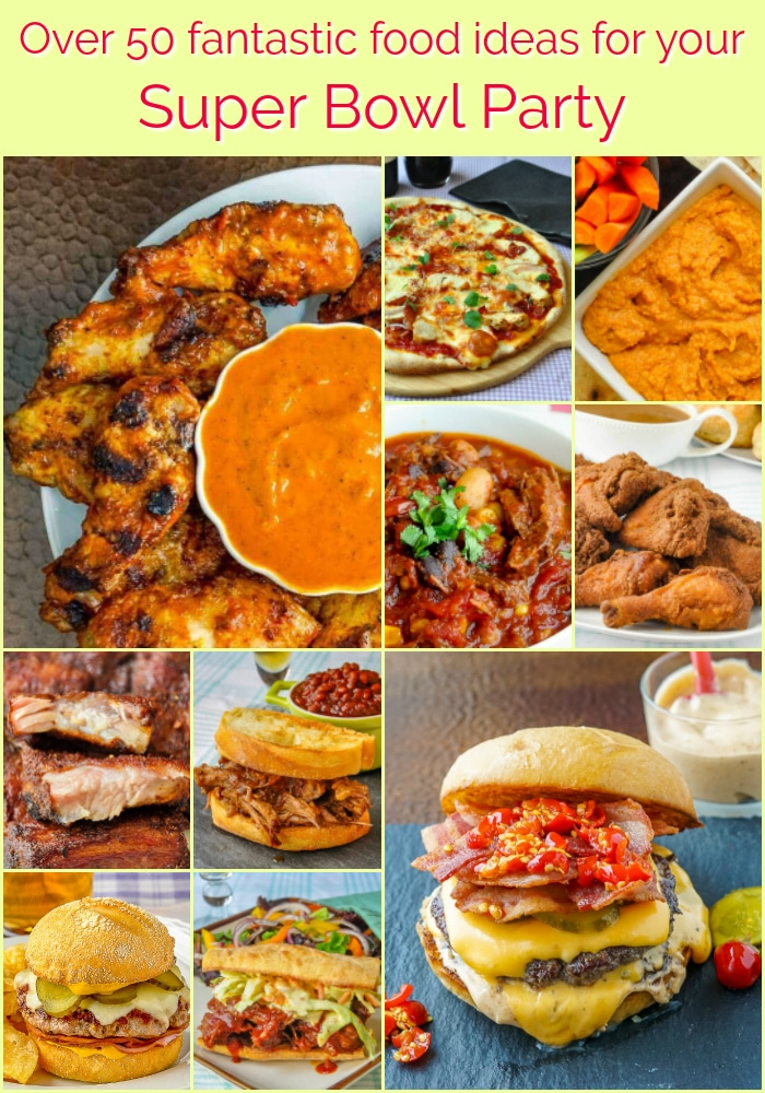 Best Super Bowl Party Food Ideas phptp collage with title text for Pinterest