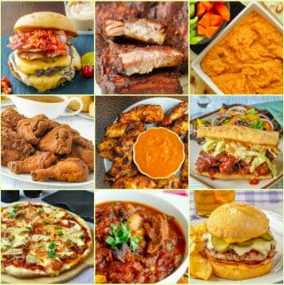 Best Super Bowl Party Food Ideas square collage for featured image