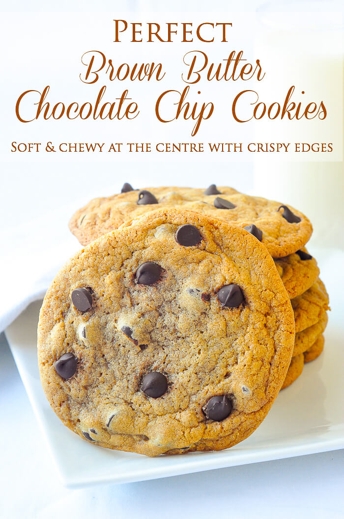 Brown Butter Chocolate Chip Cookies - take the flavour of the best chocolate chip cookie ever to a new caramely delicious level.