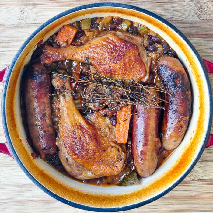 Black Bean Sausage & Duck Cassoulet - an ideal winter ...