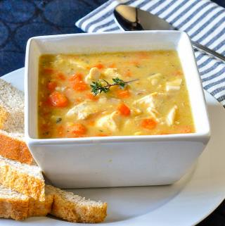 Chicken Lentil Soup – with carrots, celery and thyme.
