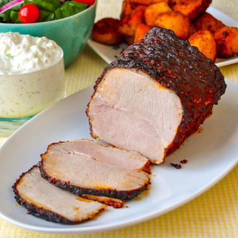 Souvlaki Roast Pork Loin square cropped for featured image