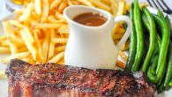 Steak Frites with Cabernet Thyme Gravy