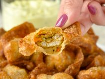 Curry Chicken Stuffed Wontons