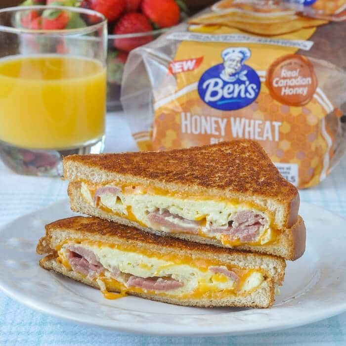Ham Omelet Grilled Cheese Sandwich