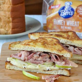 Shortcut Monte Cristo Sandwich on Ben's Honey Wheat Bread