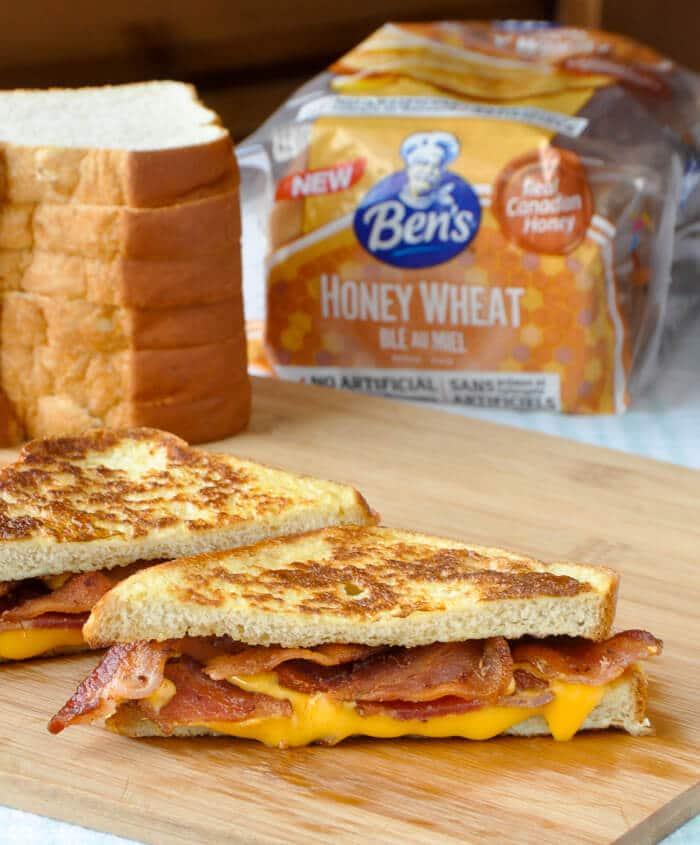 Shortcut Monte Cristo Sandwich with Bacon & Cheese