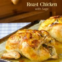 Lemon Garlic Roast Chicken with Sage