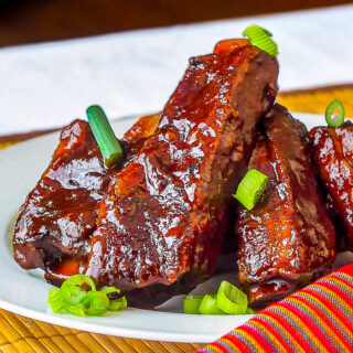 Maple Chipotle Barbecue Braised Ribs close up photo
