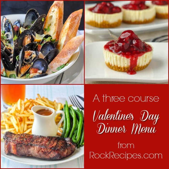 Valentine's Day Dinner Menu
