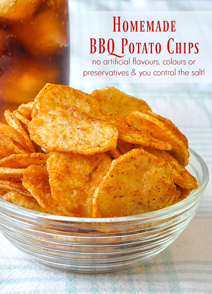 Barbecue Spice Mix Seasoning for Homemade Barbecue Potato Chips photo with title text added for Pinterest