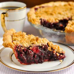 Bumbleberry Crumble Pie. Use any combinations of fruits and berries you like.