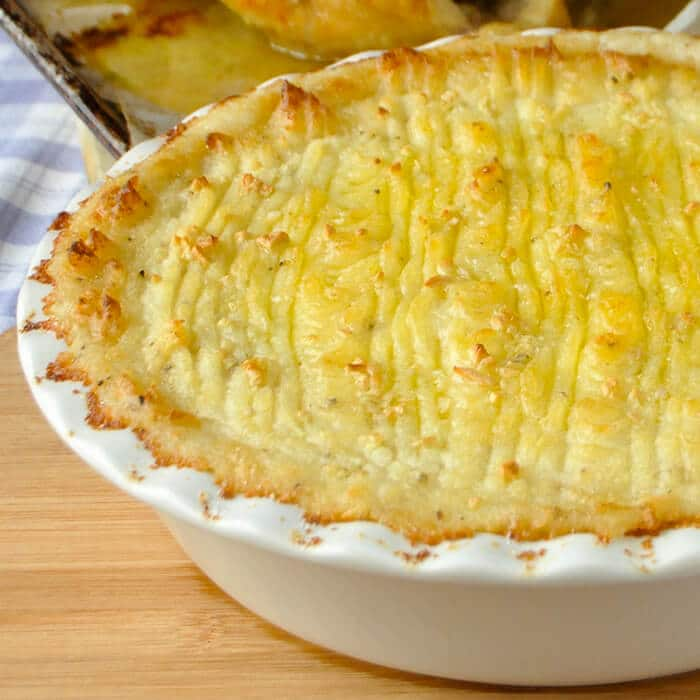 Smoked Cheddar Duchess Potatoes, an ultimately luxurious potato side dish.