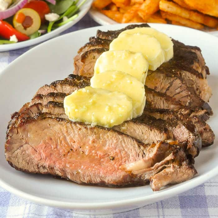 Family Style Garlic Butter Steak