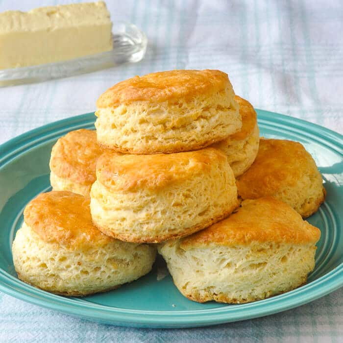 Garlic Butter Biscuits - light, tender biscuits with garlic butter baked right in.