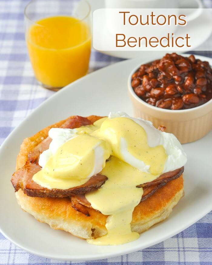 Toutons Benedict image with title text