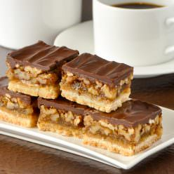 Chocolate Pecan Bars. This recipe is so easy to make!