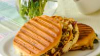 Cranberry Panini with leftover turkey.