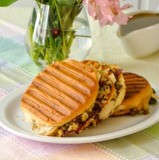 Grilled Cranberry Panini with Leftover Easter Turkey