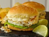 Grilled Cod Sandwich on D'taliano Brizzolio Rolls