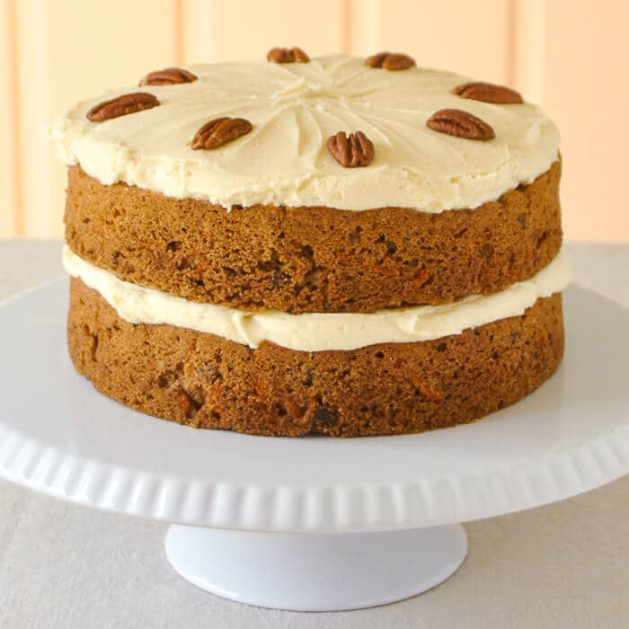 ... pecan carrot cake version i decided to put lots of pecans in the cake