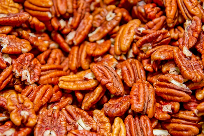 Pecans for Chocolate Pecan Bars
