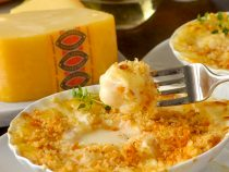 Scallops au Gratin with Jarlsberg Cheese