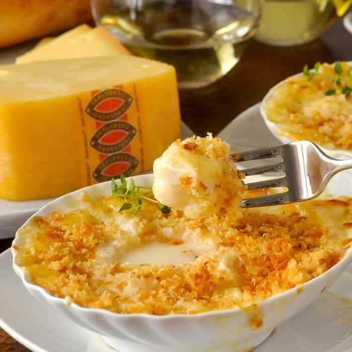 Scallops au Gratin with Jarlsberg Cheese