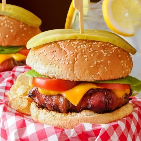 Ultimate Bacon Wrapped Cheeseburger