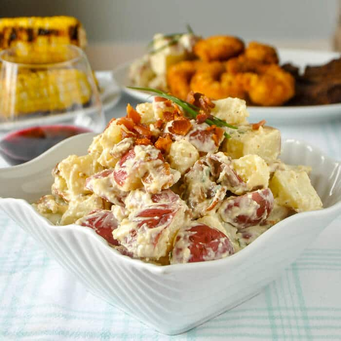 Caesar Potato Salad - with an easy, creamy homemade caesar ...