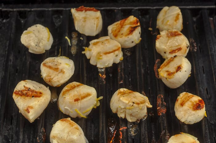 Lemon marinated scallops