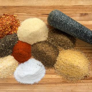 Homemade Montreal Steak Spice – less expensive plus you control the salt level.