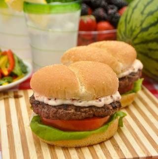 Italian Herb & Parmesan Burger with Sundried Tomato Mayo