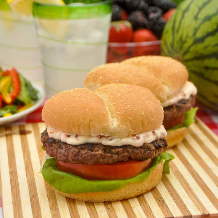 Italian Herb & Parmesan Burger with Sundried Tomato Mayo
