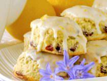 Lemon Cranberry Scones, with a simple delicious lemon glaze.
