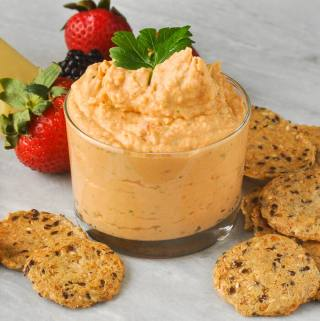 White Bean Dip with Sun Dried Tomato and Herbs