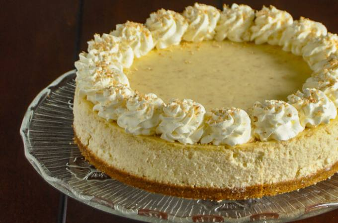 Coconut Cream Cheesecake cropped