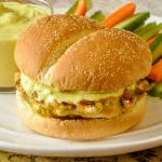 Easy Curry Chicken Burgers on D'Italiano® Crustini Buns
