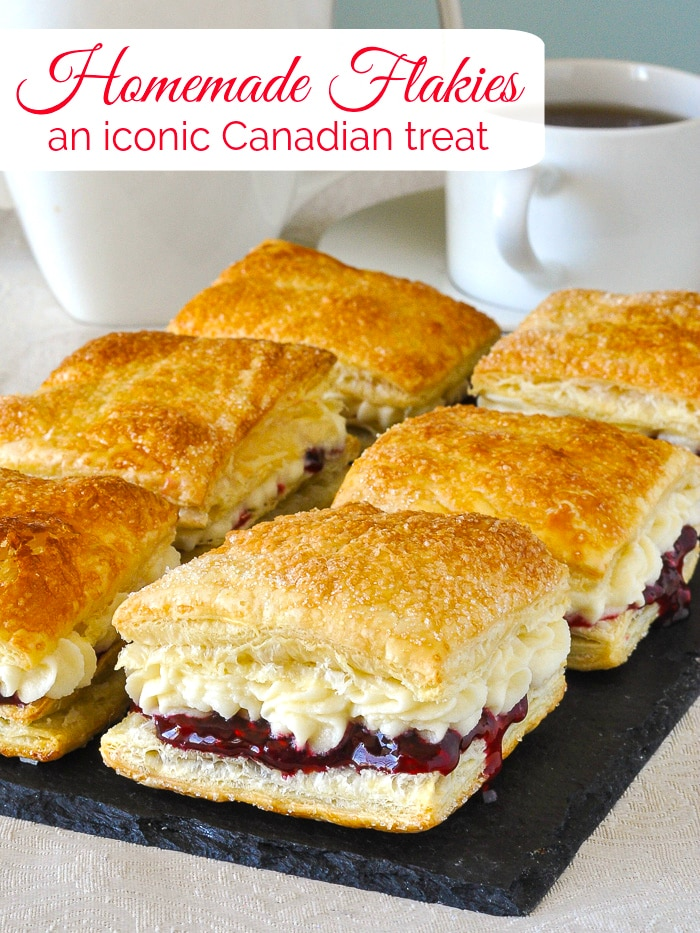 Homemade Flakies photo with title text added for Pinterest