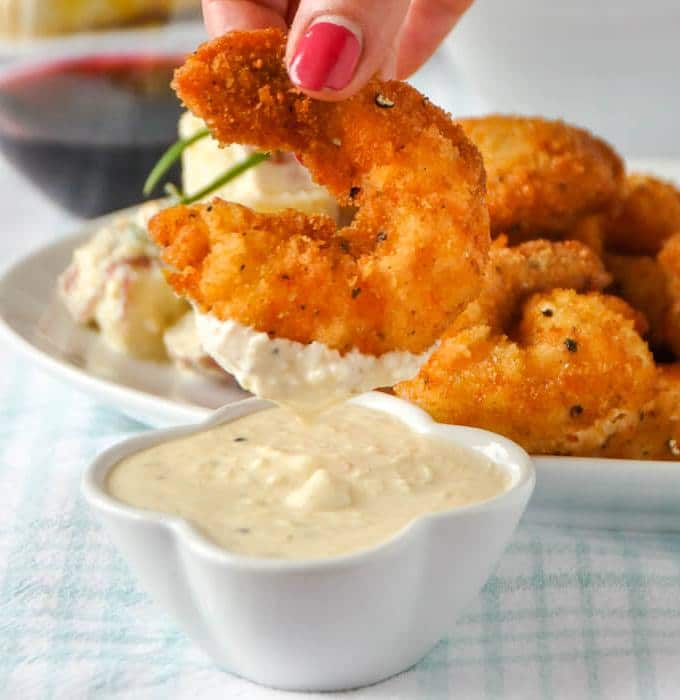 Parmesan Shimp with Ceasar Dip
