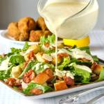 Roasted Garlic Caesar Salad Dressing - the easy way using a plain mayo base.