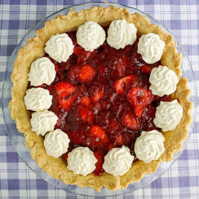 Strawberry Pie, Southern style with no artificial colours or flavours