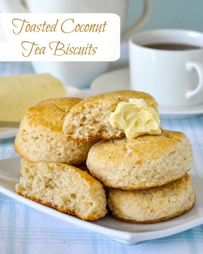 Toasted Coconut Tea Biscuits