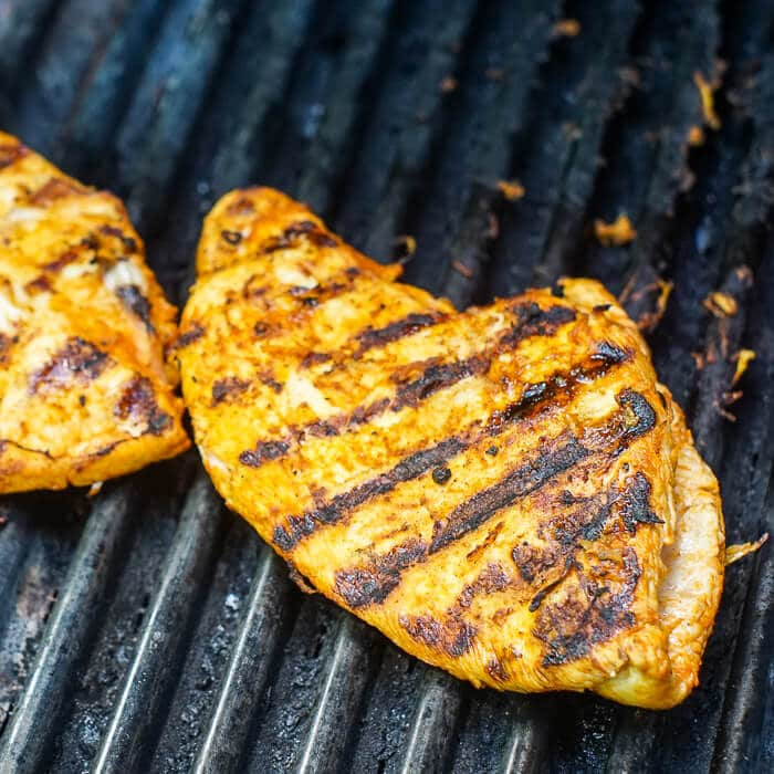 Lemon Paprika Chicken on the grill.