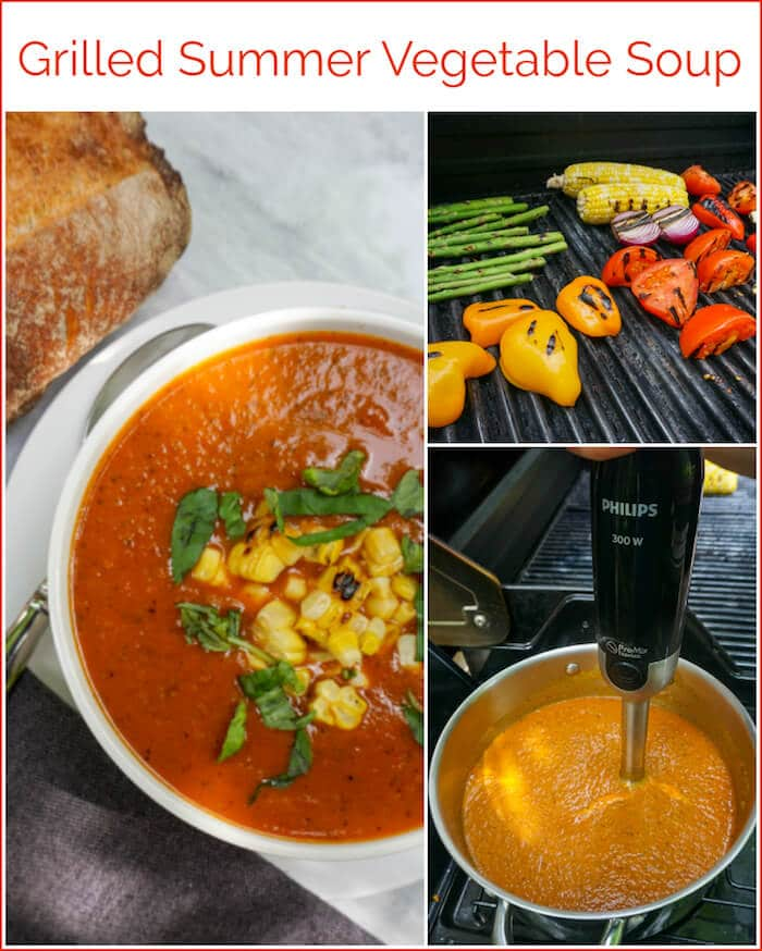 Grilled Vegetable Soup Photo collage for Pinterest
