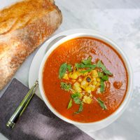 Grilled Vegetable Soup