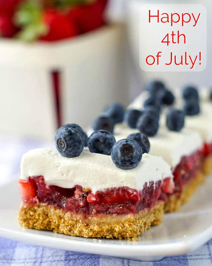 Strawbberry Pie Bars for 4th of July