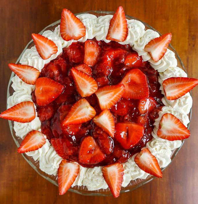 Strawberry Shortcake Cheesecake Top view